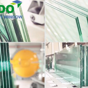 Laminated glass not tempered is processed at SADO factory